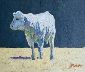"""Calf in the Yard"" Acrylic on Paper €280"